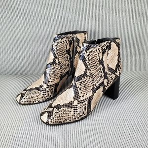 Marc Fisher snake skin leather booties